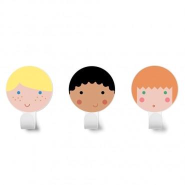 KIT 3 COLGADORES FRIENDS 1