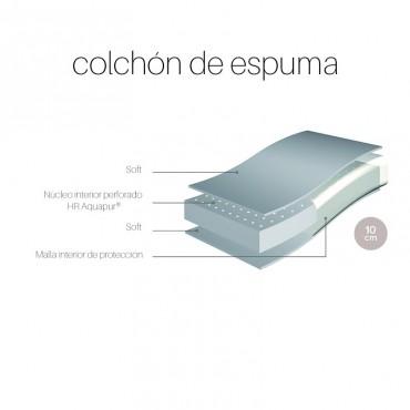 COLCHÓN DE ESPUMA ANTIAHOGO PARA CUNAS