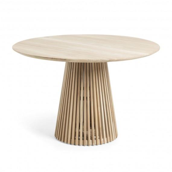 Mesa redonda de comedor Irune en madera de teca natural con un diseño  original e impactante|No Place Like Home