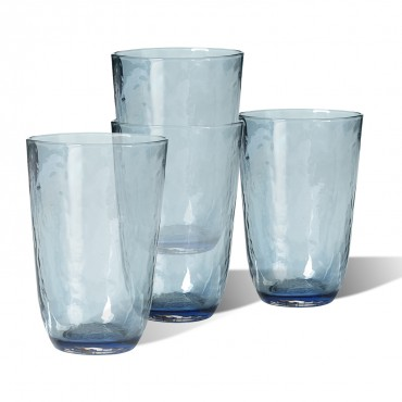 SET 4 VASOS ALTOS HAMMERED
