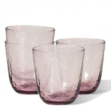SET 4 VASOS AGUA HAMMERED