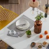 Mesa de comedor fija Arya White | No place Like home, mueble nórdico