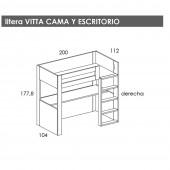 CAMA ALTA VITTA
