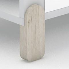 Con patas madera natural